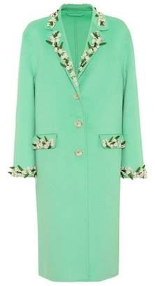 Gucci Embellished wool and angora coat