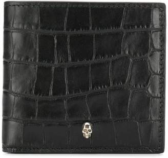 Alexander McQueen textured skull cardholder