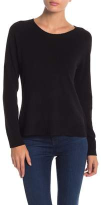 In Cashmere Cashmere Crew Neck Side Slit Sweater