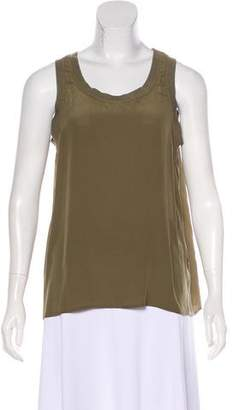 Anine Bing Sleeveless Silk Top