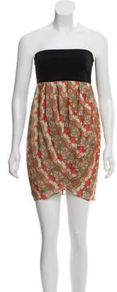 Alice + Olivia Abstract Print Silk Mini Dress