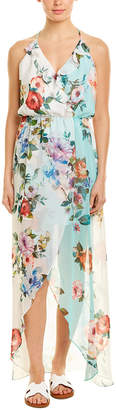 Lavender Brown High-Low Maxi Dress
