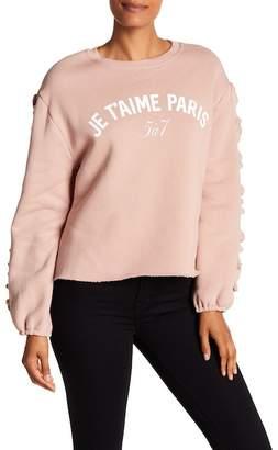 Cinq à Sept Je T'aime Paris Ruffle Sleeve Sweater