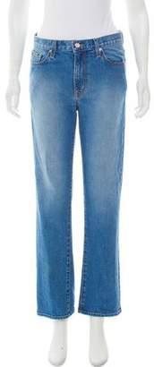 Oscar de la Renta 2018 Mid-Rise Jeans
