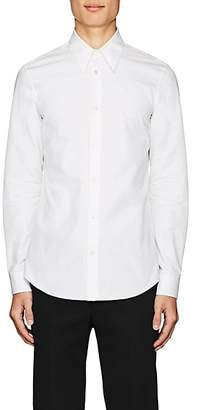 Calvin Klein Men's Embroidered Cotton Poplin Shirt