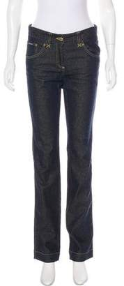 Dolce & Gabbana Mid-Rise Metallic-Accented Jeans