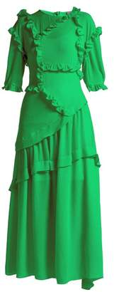 Preen by Thornton Bregazzi Cassidy Ruffle Trim Dress - Womens - Green