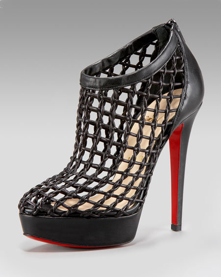 Christian Louboutin High-Heel Cage Bootie