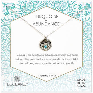 Dogeared Silver Turquoise Necklace