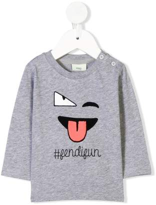 Fendi Kids Fun longsleeved T-shirt