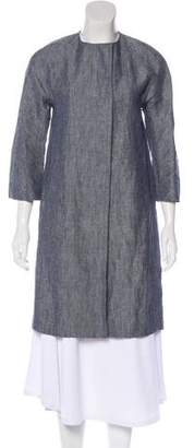 Theory Linen Knee-Length Coat