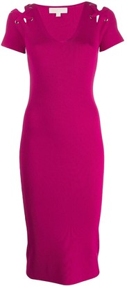 MICHAEL Michael Kors ribbed knitted dress