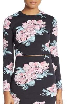 Elizabeth and James Polly Floral-Print Cropped Top