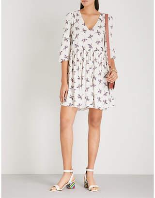 BA&SH Flow floral-print crepe mini dress