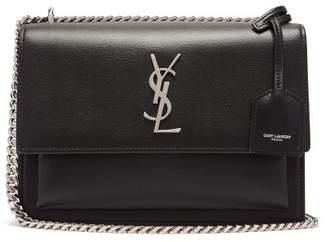 Saint Laurent Sunset Medium Leather Cross Body Bag - Womens - Black