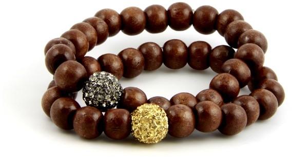 Jewelry - Alexandra Beth Designs Pave Beaded Bracelet