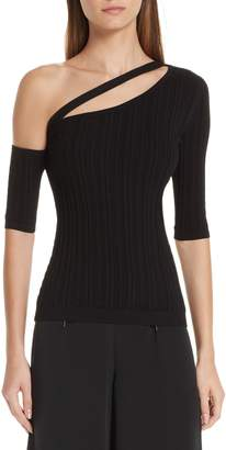Cushnie et Ochs Cutout One-Shoulder Top