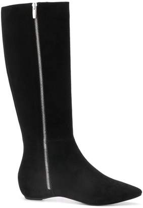 The Seller zipped mid-calf boots