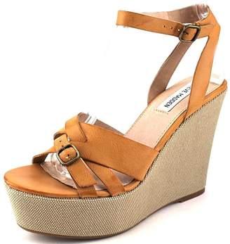 Steve Madden Twizter Women US 10 Tan Wedge Sandal