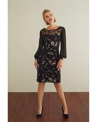Gina Bacconi Mallory Chiffon Dress