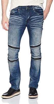 Buffalo David Bitton Men's Max-x Skinny Fit Sanded and Worn Wash Stretch Denim Pant