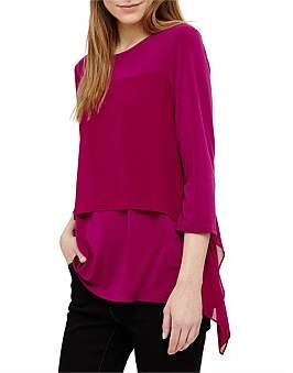 Phase Eight Wynne Woven Layer Top
