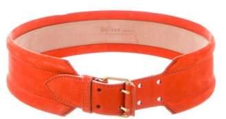 Alexander McQueen Suede Waist Belt Orange Suede Waist Belt