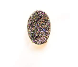 Tiana Jewel - Steffy Rainbow Metallic Druzy Ring