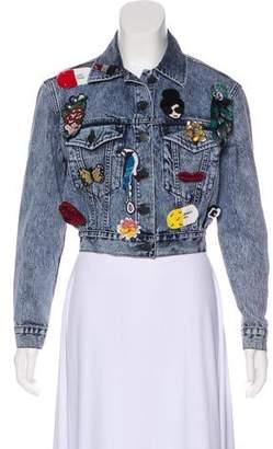 Alice + Olivia Embroidered Denim Jacket