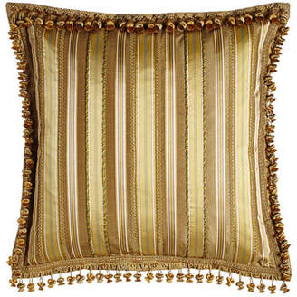 Sweet Dreams Striped European Sham with Gimp & Cord Accents & Onion Trim