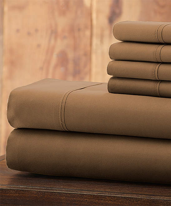 Taupe Everyday Essentials Microfiber Sheet Set