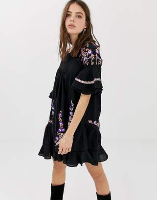 Free People Pavlo embroidered tunic dress