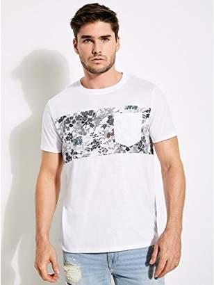 GUESS Men's Short Sleeve Mason Shine Paneled Shirt