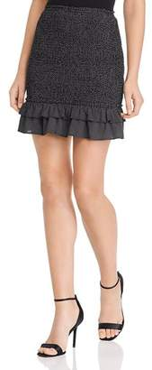 Strawberry Fields Sage the Label Smocked Cropped Mini Skirt