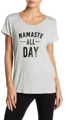 """Andrew Marc \""""Namaste All Day\"""" Graphic Tee"""