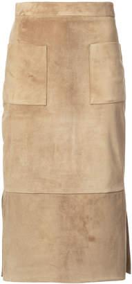 Cushnie et Ochs suede straight skirt