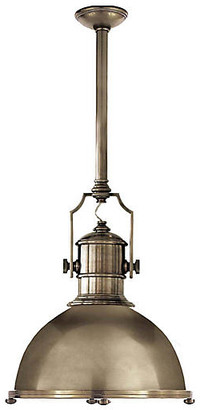 Visual Comfort & Co. Country Industrial Large Pendant - Antiqued Nickel