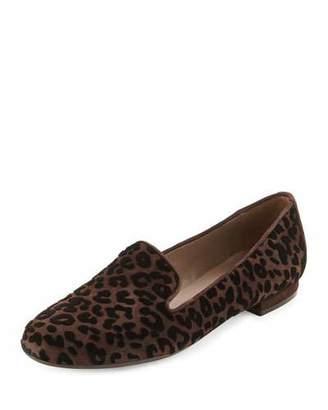 Sesto Meucci Kerria Leopard-Print Suede Loafer, Moro Brown $315 thestylecure.com