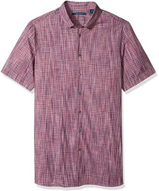 Perry Ellis Men's Big and Tall Short Sleeve Space Dye Shirt
