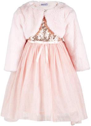 Blueberi Boulevard Little Girls 2-Pc. Faux Fur Shrug & Sequin Dress Set