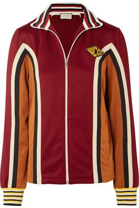 Gucci Striped Stretch-jersey Track Jacket - Burgundy