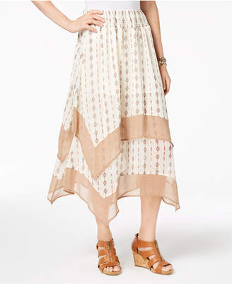 Style&Co. Style & Co Printed Tiered Comfort-Waist Skirt, Created for Macy's
