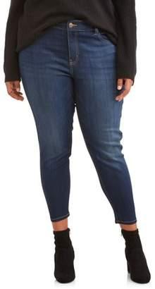 N. Terra & Sky Women's Plus 5 Pocket Skinny Jean