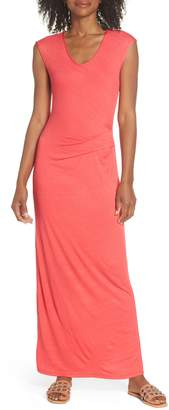 Fraiche by J Ruched Jersey Maxi Dress