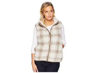 True Grit Dylan by Softest Tip Shearling Shadow Plaid Vest