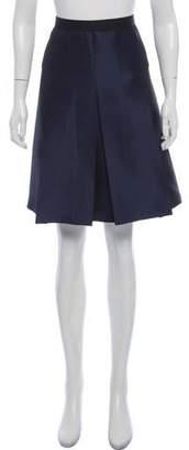 Hache Pleated Knee-Length Skirt w/ Tags