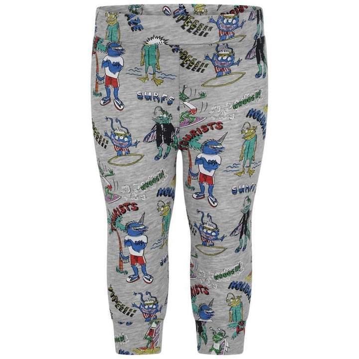 KidsBaby Boys Grey Mutant Print Giggle Trousers