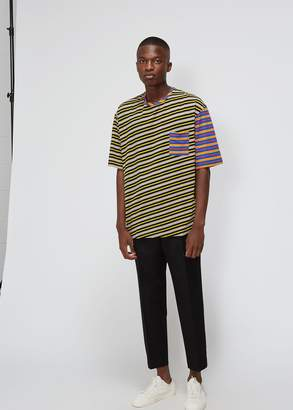 Marni Multistripe Panel Pocket Tee