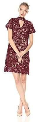 Blu Pepper Junior's Haltered Neck Lace Dress