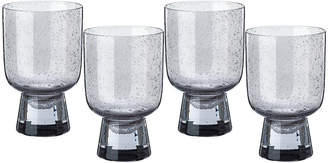 Pols Potten Ciro Glass Tumblers - Grey - Set of 4 - Large